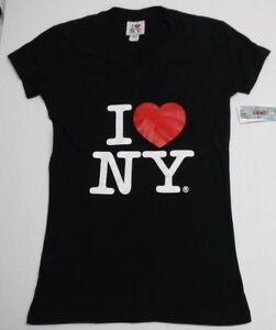 I Love New York Size M Black T Shirt New Womens Shirts