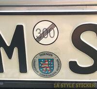 kein Tempolimit Aufkleber 300 kmh aufgehoben kein Limit Sticker dapper static