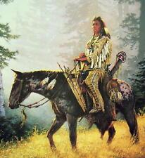 PEACEMAKER Chuck Ren S/N LE Fine Art Print Plains Indian Brave on Horse