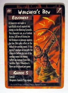 Rage CCG Wanchese's Bow 1995 White Wolf Promo Card EX
