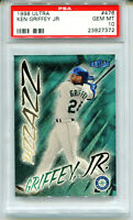 KEN GRIFFEY JR 1998 Fleer Ultra Card #476 Pizzazz Mariners HOF Gem Mint PSA 10