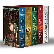 George R. R. Martin's a Game of Thrones 5-Book Boxed Set (Song of Ice and Fire Series): A Game of Thrones, a Clash of Kings, a Storm of Swords, a Feast for Crows, and a Dance with Dragons by George R R Martin (Paperback / softback, 2013)