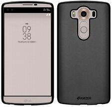 AMZER Exclusive Pudding Matte TPU Case Back Cover For LG V10 H900 H901 - Black