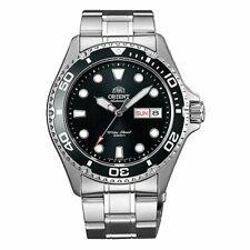 Reloj para hombre Orient Ray II Dial Negro Automático Pulsera De Tono Plata AA02004B