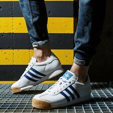 Adidas Originals Samoa para hombre Blanco Azul Marrón Zapato Entrenador Zapatillas De Todos Los Tamaños