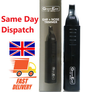 WAHL Groom Ease Ear & Nose Hair Trimmer Cordless Grooming Perfect Gift UK