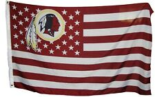 Washington Redskins 3x5 Ft American Flag Football  New In Packaging