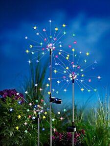 3 er Solarleuchte LED Schmetterling Leuchtdeko Gartenstecker  Magic Butterfly