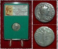 Roman Empire Coin ANTONINUS PIUS Felicitas On Reverse Silver Denarius