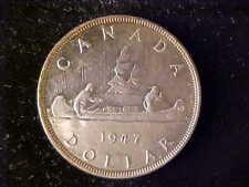 CANADA ONE DOLLAR 1947 BLUNT AU