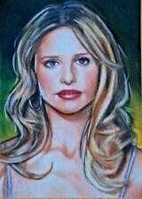 Sarah Michelle Gellar Buffy The Vampire Slayer Original Sket 00004000 ch Card Aceo Art 1/1