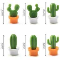 6PCs/Set Mini Cute Cactus Fridge Magnets Refrigerator Magnet NEW A2X4