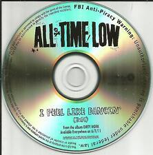 ALL TIME LOW I feel Like Dancin USA TST PRESS PROMO DJ CD single 2011 dancing