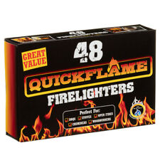 48 Fire Lighters Long Burning Firelighters QuickFlame Fast Barbecue BBQ Oven