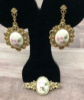 Victorian Style  Brooch and Matching Earrings Vintage