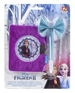 Disney Frozen 2 Plush Diary With Pen And Padlock, Gift, Stocking Filler, Present