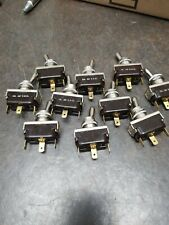 10 McGill  ON/OFF Toggle Switches 1 amp  30 V.D.C