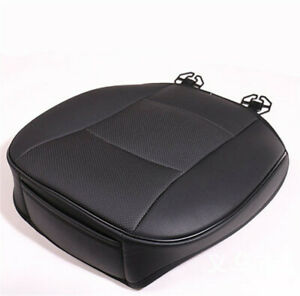 Universal Black PU Leather Deluxe Car Driver Front Cover Seat Protector Cushion