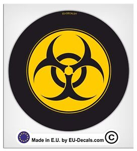 100mm-4'' Biohazard Laminated Decal Sticker vespa scooter classic high quality