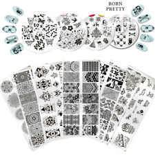 Born Pretty Nail Art Stamping Plates Rose Flower Geometry Butterfly  DIY