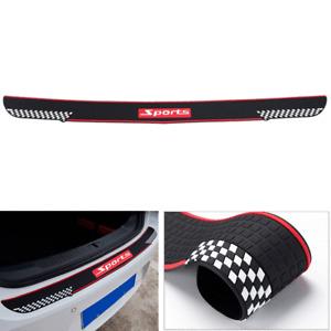 Car Rear Rubber Bumper Guard Cover Anti-Scratch Protector Non-slip Pad Black+Red
