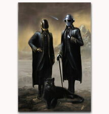 58937 Daft Punk The Weeknd Starboy Metallic Wall Print POSTER Affiche
