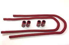 "44"" Universal Red Radiator Hose Kit Red Aluminum Clamp Covers End Caps Hot Rod"