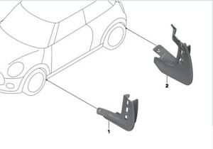 Genuine Mini F56 F57 Mud Flaps (Full Set of 4 Front and Rear) 82162338565 566
