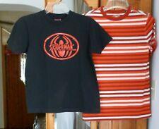 Youth L T-SHIRT Lot Short Sleeve Cotton SPIDER-MAN Black CHEROKEE Striped Orange