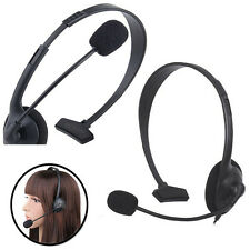 2 x Xbox 360 Live Wired Headset Microphone Volume Control Headphone in Black