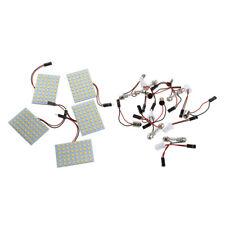 5X 48 SMD LED warmweiss Flaechenleuchte Lampe Kuppel Lampe + T10 Girlande B J8Y4