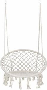 Indoor Outdoor Cotton Hanging Rope Hammock Chair Swing Round Home Garden Patio