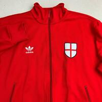 Adidas England National Team Soccer Jackets Mens Sz L Red 1974 FIFA World Cup