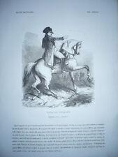 Engraving 1880 Napoleon Bonaparte