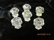 ANTIQUE GLASS FURNITURE KNOBS
