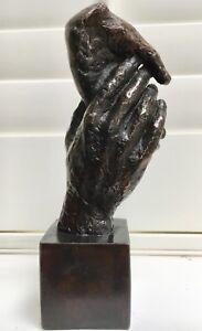 Friendship solid bronze cast modernist sculpture Uk artist foundry Ltd edition