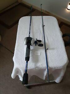 Baitcasting Fishing Rod ZEBCO 5'Ultra Light And Reel Shakespeare 6.2.1 10lb...