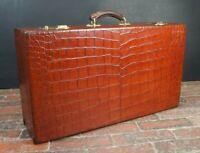 Sublime Vintage Crocodile Travel Suitcase