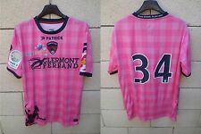 Maillot CLERMONT FOOT porté n°34 PATRICK away shirt rose Ligue 2 camiseta L rare