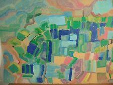Art Contemporain Cubisme DGL STAEL ZELTER Fauve Grande Gouache Carton Signée 1