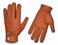 Vintage Driving Classic Leather Gloves Fashion Dressing Chauffeur Car Men Women