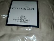 Charter Club King Sheet Set 500 Tc Tan $160
