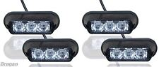 4 x luces LED ámbar Luz Estroboscópica Intermitente Recuperación Camión Camión de socorro Lámparas