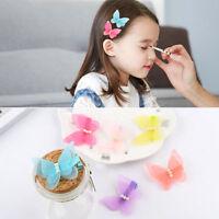 NEW 2X Kids Baby Chiffon Butterfly Girls Princess Hair Pin Headwear Hair Clips