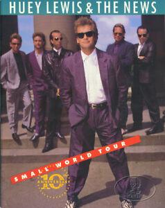 HUEY LEWIS & THE NEWS 1988 SMALL WORLD Tour Concert Program Tour Book