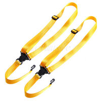 2 Pcs Adjustable Nylon Classical Ukulele Snap-on Strap Yellow