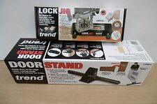 TREND ROUTER MORTISE LOCK JIG LOCK/JIG + DOOR STAND D/STAND/A + REDEMPTION