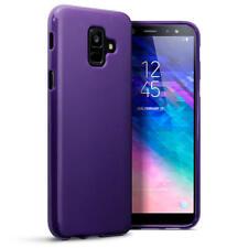 Slim Rubber TPU Gel Case for Samsung Galaxy A6 2018 - Purple Matte
