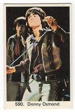 1970s Swedish Pop Star Card #590 American teen heartthrob singer Donny Osmond