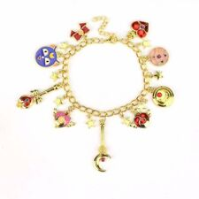 Anime Sailor Moon Luna Moon Stick Metal Pendant Charm Bracelet Cosplay Gift